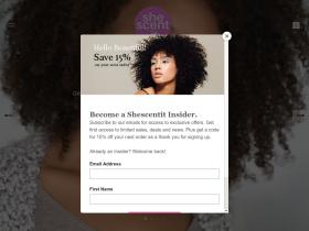 Shescentit.com-Natural Hair Care/home Promo Code